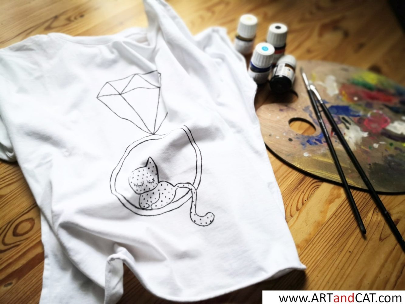 how to take care of hand painted tees with cats graphics