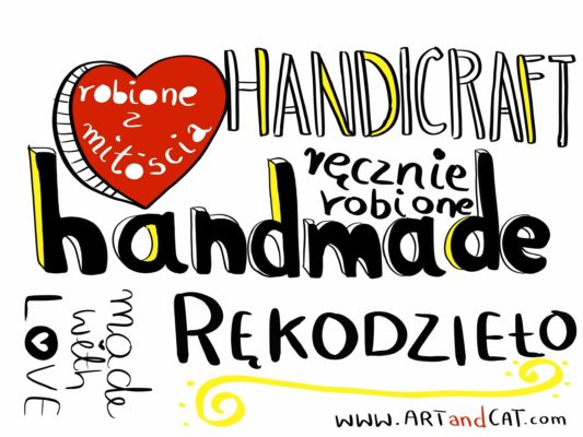 lettering handmade graphic drawing made with love